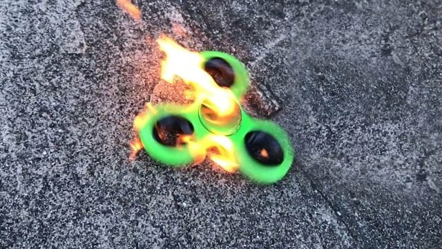 Image of a Fidget Spinner on Fire