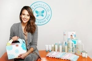 Image of Jessica Alba Sitting Amid Honest Co. Products