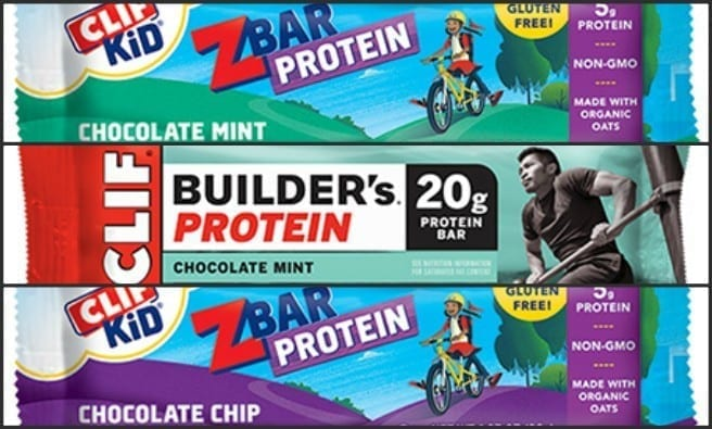 Image of the Recalled Cliff Bars