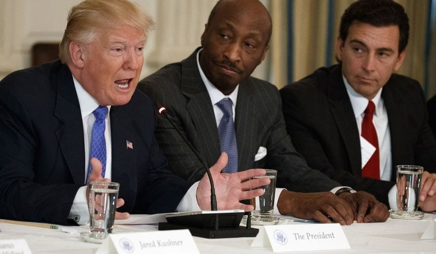 Trump blasts CEOs who quit White House panel