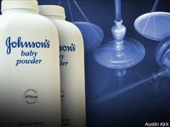 J&J Baby Powder and the scales of Justice; image courtesy of Austin Kirk CC by 2.0.