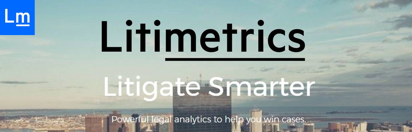 Litimetrics website banner, with logo added by author.