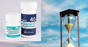 Composite image: Benicar bottles via www.empr.com; hourglass via www.lochgarry.wordpress.com.