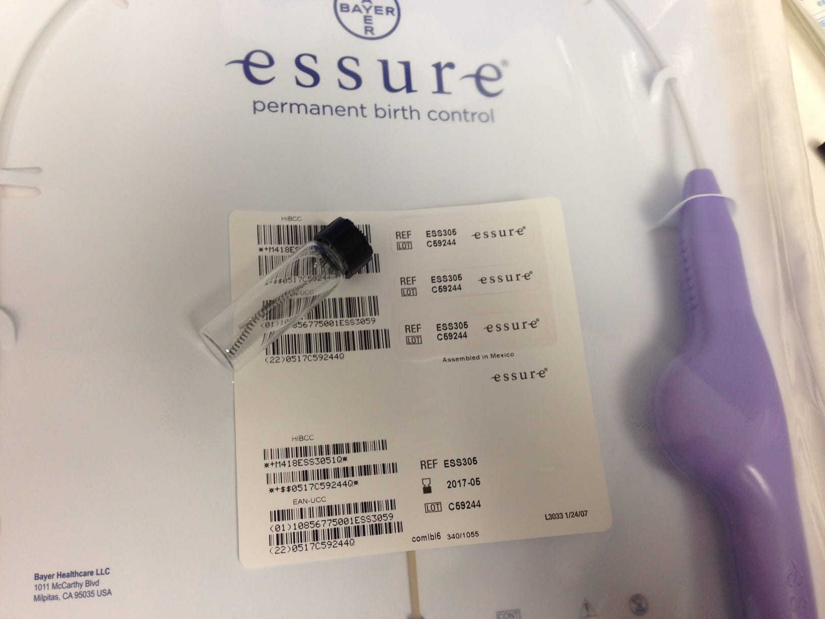 An Essure Kit; image courtesy of www.kcrg.com.