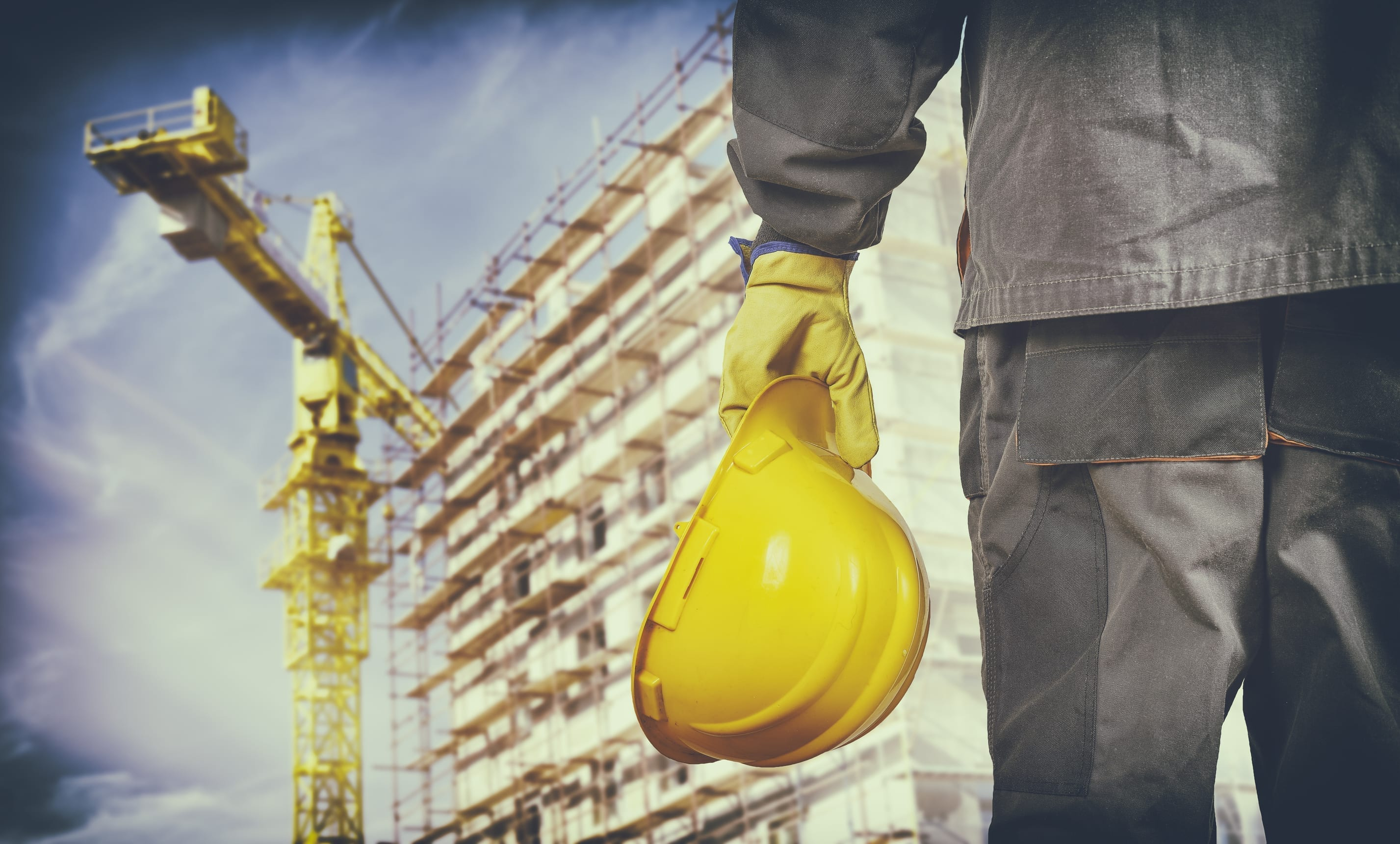 Image of a Construction Worker at Construction Site
