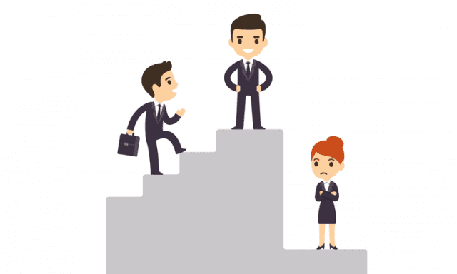 Cartoon image of Gender Discrimination