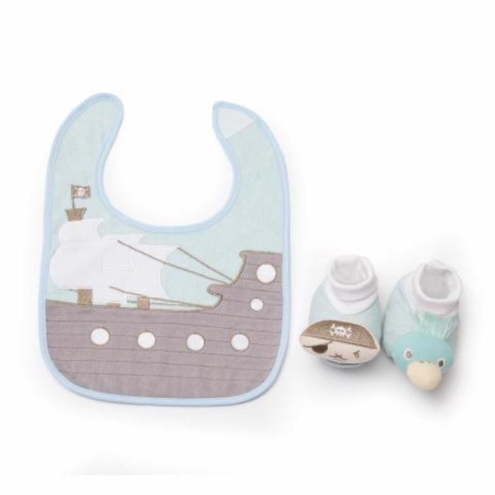 Image of the Recalled DEMDACO Bib and Bootie Set