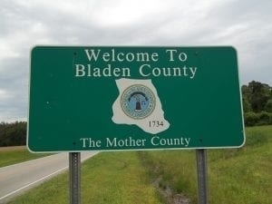 Image of the Bladen County Welcome Sign