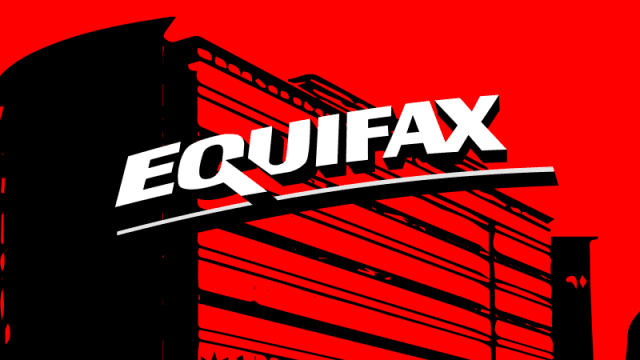 Image with the word 'Equifax' in white on red background