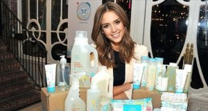 Image of Jessica Alba with Honest Co. Products