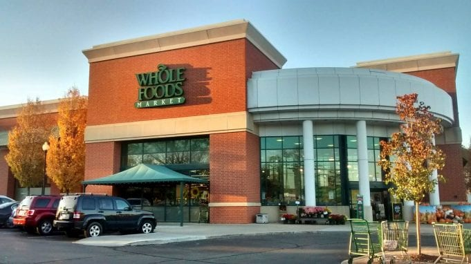 External view of a Whole Foods Market in Ann Arbor, Michigan.