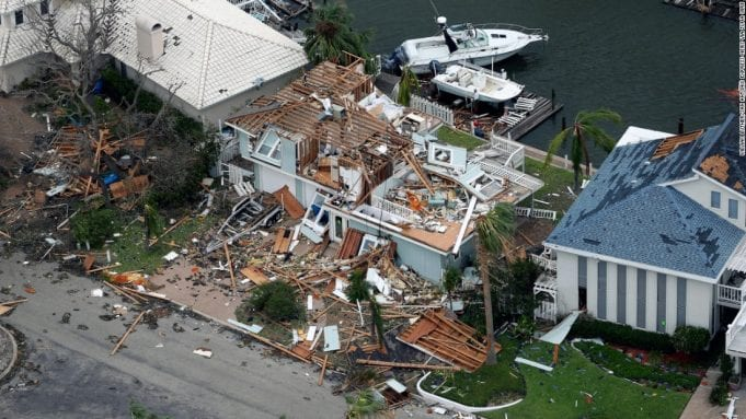 A home destroyed by Harvey; image courtesy of www.cnn.com.