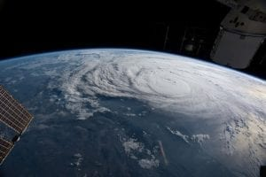Harvey as seen from the International Space Station; image courtesy of www.theatlantic.com.