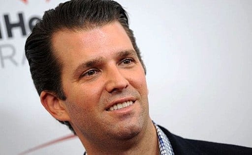 Donald Trump, Jr., elephant hunter; image by Sebastian Vital, CC BY 2.0, via Wikimedia Commons, no changes made.