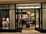Outside of a Banana Republic store