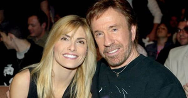 Image of Chuck Norris and his wife, Gena
