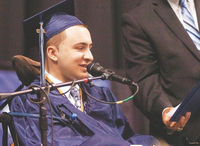 Image of Cooper Doucette at his Graduation Ceremony