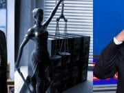Images: McGahn - Sam Hodgson for www.nytimes.com; Lady Justice - jessica45 www.pixabay. com, CC0 Creative Commons; Trump - Mark J. Terrill, AP.