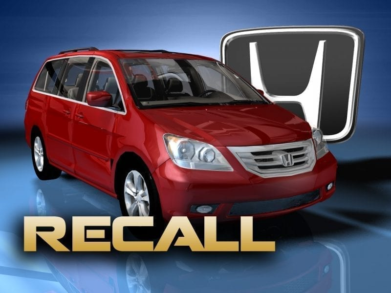 Image of the Honda Odyssey Recall Alert