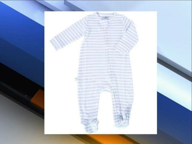 Image of the Recalled Woolino Pajamas