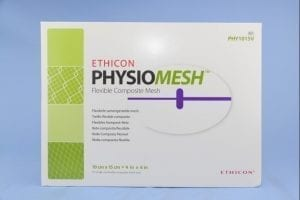 Ethicon Physiomesh packaging; image courtesy of www.idataresearch.com.
