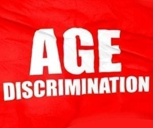 Image of an Age Discrimination Awareness sign