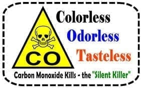 Image of a Carbon Monoxide Warning Sign
