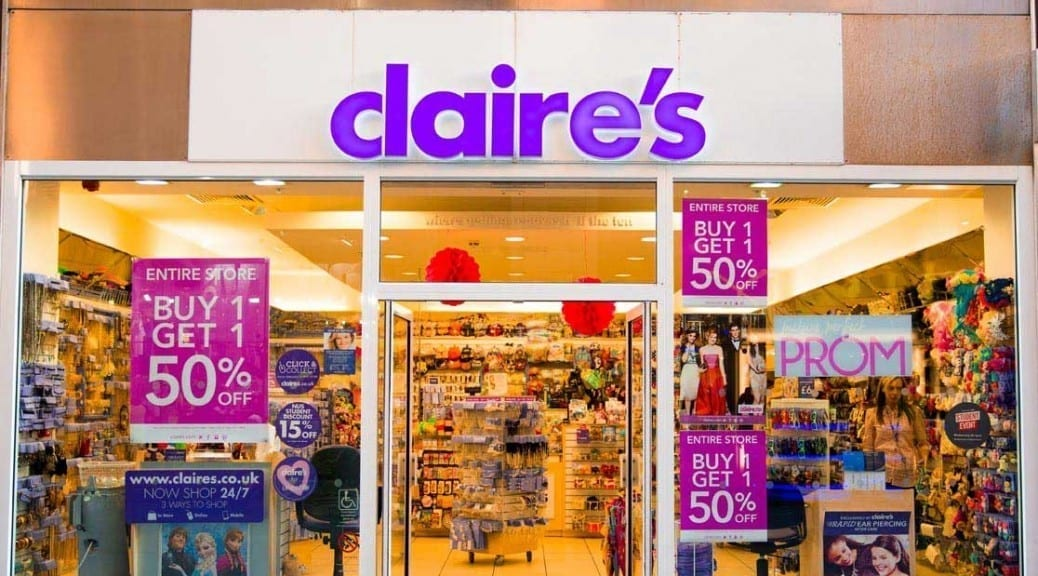 Image of a Claire's Accessories store