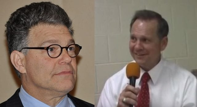Al Franken and Roy Moore