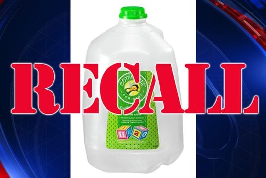 Image of a Recall Alert for Kroger Comforts for Baby Purified Water