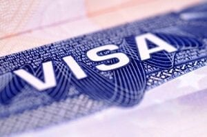 Image of the word 'VISA' on a blue background