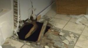 Burglars Get Creative, Enter Home Through Bathroom Floor