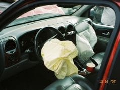 Airbag deployment; image courtesy of Adam Bartlett/Flickr, via CC by 2.0.