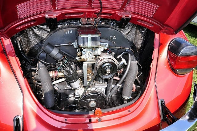 VW Beetle engine; image courtesy of Stephen Hanafin, via Flickr CC BY-SA 2.0, no changes made.