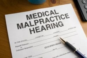 Image of a Medical Malpractice Hearing Form