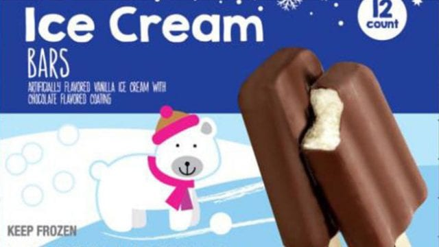 Image of the Recalled Giant Eagle Ice Cream Bars