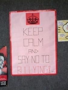 Image of a Say No to Bullying Sign
