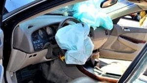 Deployed airbags; image courtesy www.cbsnews.com.