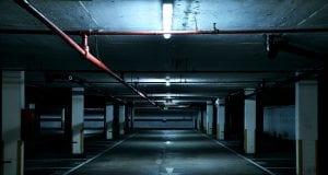 Image of a dark parking garage