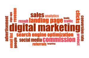 Digital Marketing terms; image courtesy of typographyimages via Pixabay.com CC0 Creative Commons.