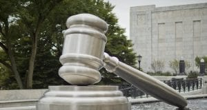 Image of a Gavel Statue at Courthouse