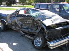 Car accident; image by Dori, Public domain, via Wikimedia Commons.