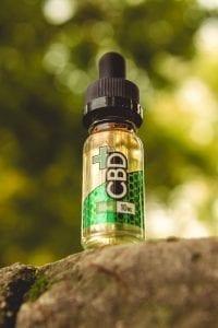 CBD E-Liquid, Tinctures; image courtesy of Vaping360.com/cbd-oil-cannabidiol-hemp-oil, via Flickr, CC BY-ND 2.0, no changes made.