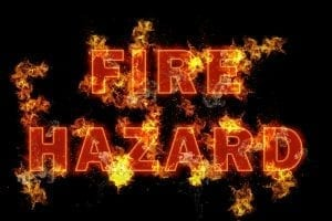 Image of a Fire Hazard Sign