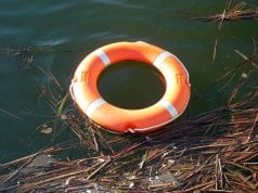 Image of a water rescue tire