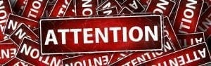 Image of an 'Attention' sign