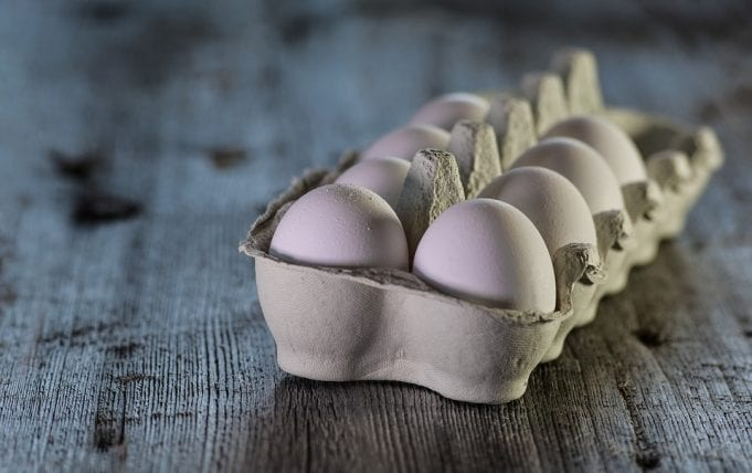 image of a carton of eggs