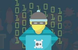 Cybercriminal at a laptop; graphic courtesy of Best VPNs, via author.