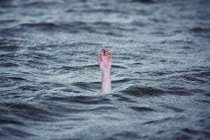 Image of a person drowning