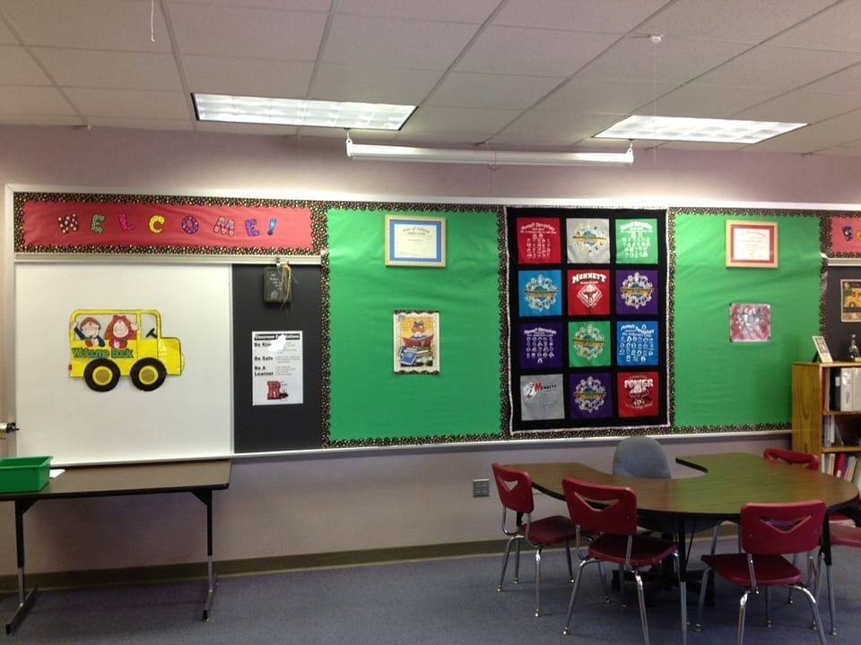 Image of an elementary classroom